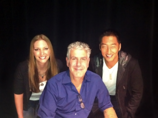 Pam & CK with Anthony Bourdain