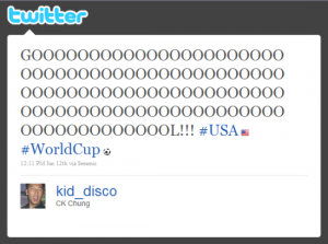 Twitter World Cup Hashflag example